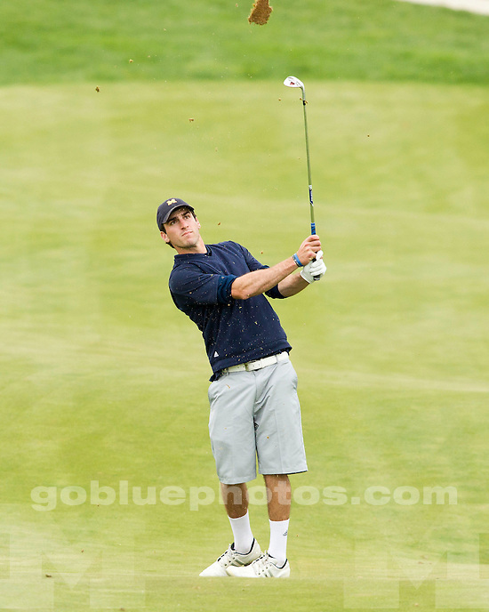 The University of Michigan men's golf team finished day one in ninth place at the Big Ten Championship at the Pete Dye Course (French Lick Resort) in French Lick, Ind., on April 26, 2013.