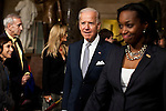 Vice President Joe Biden arrives for President Barack Obama's State of the Union address in the U.S. Capitol on Tuesday, January 24, 2012 in Washington, DC.