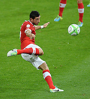 Fussball International  WM Qualifikation 2014   in Bern Schweiz - Island          06.09.2013 Blerim DZEMAILI (Schweiz) am Ball