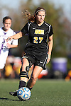 21 October 2012: Iowa's Katie Nasenbenny. The Northwestern University Wildcats played the University of Iowa Hawkeyes at Lakeside Field in Evanston, Illinois in a 2012 NCAA Division I Women's Soccer game. Northwestern won the game 1-0.