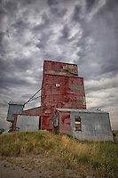 Red Grain Elevator (color - vertical)