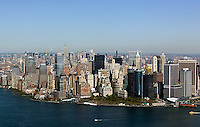 aerial photograph Battery Park, downtown Manhattan, New York City