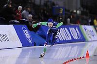SPEED SKATING: SALT LAKE CITY: 20-11-2015, Utah Olympic Oval, ISU World Cup, 5000m Ladies B-division, Carien Kleibeuker (NED) in Nederlands record: 6.45,04, ©foto Martin de Jong
