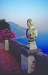 View from the Villa Cimbrone in Ravello, Amalfi Coast called the Belvedere of Villa Cimbrone or Terrazza dell'Infinito the Terrace of the Infinite