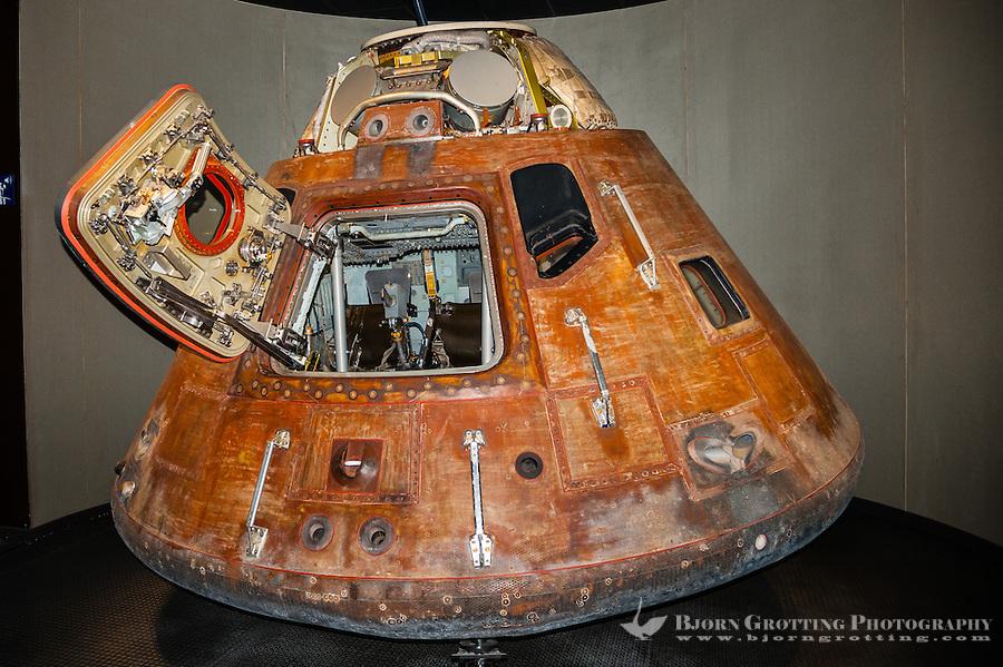 US, Florida. John F. Kennedy Space Center. Apollo 14 Command Module. Apollo/Saturn V Center.