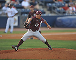 Ole MIss vs. Mississippi State's Luis Pollorena (17) at Oxford-University Stadium in Oxford, Miss. on Thursday, May 12, 2011. (AP Photo/Oxford Eagle, Bruce Newman)