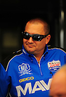 May 6, 2012; Commerce, GA, USA: NHRA top fuel dragster driver Brandon Bernstein during the Southern Nationals at Atlanta Dragway. Mandatory Credit: Mark J. Rebilas-