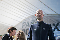 Team QuickStep Floors team presentation in Compiègne for Paris-Roubaix 2017, 1 day before the race with Tom Boonen (BEL/QuickStep Floors) put in the spotlight as he will be disputing his last pro-race in this edition of the Hell of the North.
