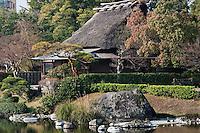 Exterior of the Tea house at Suizen-ji garden