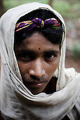 Mandi Sikaka poses for a portrait in Salpojola village in Niyamgiri hills. He is one of the many people who will get displaced if the aluminium company Vedanta carries on with its plans of mining of Bauxide in Niyamgiri hills in Rayagara district of Orissa in India.
