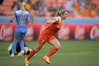 Houston, TX - Saturday April 15, 2017: Kealia Ohai during a regular season National Women's Soccer League (NWSL) match between the Houston Dash and the Chicago Red Stars at BBVA Compass Stadium.