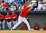 4 March 2011: Washington Nationals outfielder Bryce Harper in action during a Spring Training game against the Atlanta Braves at Space Coast Stadium in Viera, Florida. The Braves defeated the Nationals 6-4 in Grapefruit League action. Mandatory Credit: Ed Wolfstein Photo