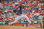 11 September 2016: Washington Nationals pitcher Mark Melancon on the mound for a save against the Philadelphia Phillies at Nationals Park in Washington, DC. The Nationals edged out the Phillies 3-2 to take the rubber match of their 3-game series. Mandatory Credit: Ed Wolfstein Photo *** RAW (NEF) Image File Available ***