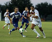 Winthrop University Eagles vs the Brevard College Tornados at Eagle's Field in Rock Hill, SC.  The Eagles beat the Tornados 6-0.  Achille Obougou (7), Efren Escobar (21)