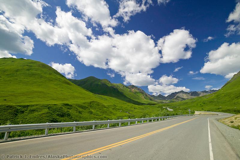Roadway to Independence Mine, Hatcher Pass, Alaska