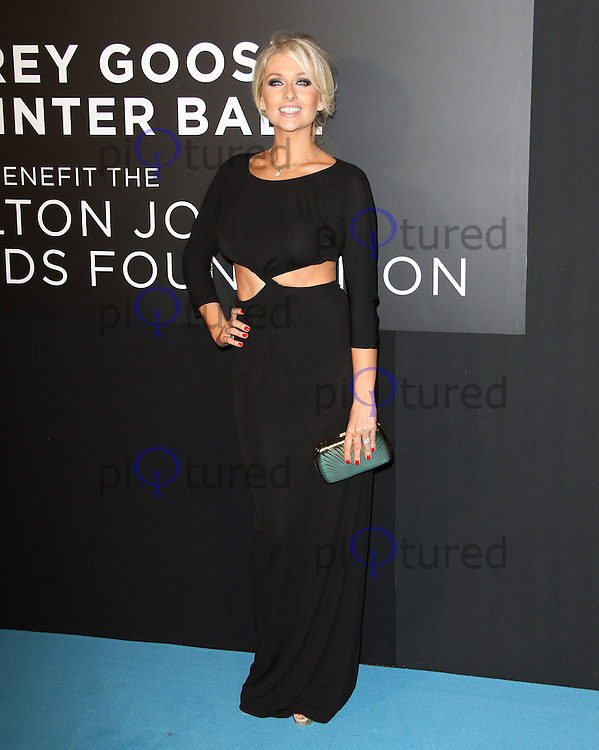 Gemma Merna Grey Goose Winter Ball to benefit the Elton John AIDS Foundation, Battersea Evolution, London, UK, 29 October 2011:  Contact: Rich@Piqtured.com +44(0)7941 079620 (Picture by Richard Goldschmidt)