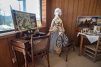 NWA Democrat-Gazette/ANTHONY REYES &bull; @NWATONYR<br /> A colonial exhibit Monday, March 21, 2016 inside the Elm Springs Historical Society 100-year-old building. Exhibits include colonial period, ozark life, costumes and civil war pieces. Across the street from the building is land that will become a park where they have evidence thousands of civil war troops once camped.