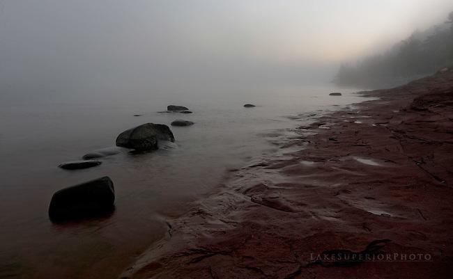 lake Superior Fog, Presque Isle Marquette Mi