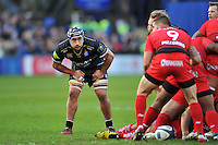 Leroy Houston of Bath Rugby looks on in defence. European Rugby Champions Cup match, between Bath Rugby and RC Toulon on January 23, 2016 at the Recreation Ground in Bath, England. Photo by: Patrick Khachfe / Onside Images