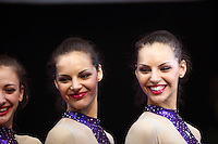 Twins, Galina and Vladislava Tancheva of Bulgaria pose with Bulgarian group during awards ceremony at 2009 World Cup at Portimao, Portugal on April 19, 2009.  (Photo by Tom Theobald).