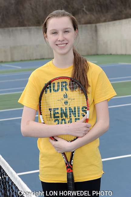Huron High School girl's junior varsity tennis team.