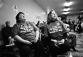Rock Hill, South Carolina.USA.January 29, 2004..General Wesley Clark speaks to a crowd at UNITE union hall.