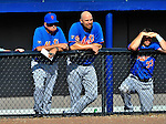10 March 2012: New York Mets infielder Valentino Pascucci watches game action during a Spring Training game against the Washington Nationals at Space Coast Stadium in Viera, Florida. The Nationals defeated the Mets 8-2 in Grapefruit League play. Mandatory Credit: Ed Wolfstein Photo