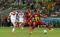 Miroslav Klose of Germany misses a good late chance to score a winning goal at 2-2