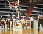 "Arizona's Ify Ibekwe (3) scores  at the C.M. ""Tad"" Smith Coliseum in Oxford, Miss. on Thursday, November 18, 2010. Arizona won 72-70."