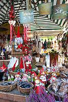 Traditional outdoor Christmas market at Viktualienmarkt in Munich, Bavaria, Germany