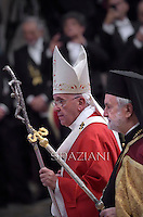 Eminence Ioannis Zizioulas  Metropolitan of Pergamon.Pope Francis during a mass for the new metropolitan archbishops and the solemnity of Saints Peter and Paul on June 29, 2014 at St Peter's basilica in Vatican.
