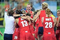 Team GB Hockey Team win gold at Rio Olympics. Team GB Celebrates. <br /> Rio de Janeiro, Brazil on August 19, 2016.<br /> CAP/CAM<br /> &copy;Andre Camara/Capital Pictures /MediaPunch ***NORTH AND SOUTH AMERICAS ONLY***
