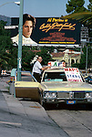 Billboard for the movie Booby Deerfield with Al Pacino on the Sunset Strip