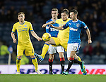 Rangers v St Johnstone&hellip;26.10.16..  Ibrox   SPFL<br />Jason Holt is tackled by Paul Paton<br />Picture by Graeme Hart.<br />Copyright Perthshire Picture Agency<br />Tel: 01738 623350  Mobile: 07990 594431