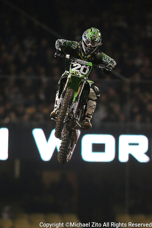 01/22/11 Los Angeles, CA:  Broc Tickle during the 1st ever AMA Supercross held at Dodger Stadium.