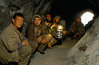 Miners looking for emeralds at 4000 meters high, in the Panshir valley.