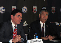 WASHINGTON, DC-JULY 10,2012:  Jason Levien and Will Chang during a D.C. United ownership press conference at the POV Lounge in the W Hotel, Washington, DC.