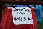Donation Thanks sign in English and Chinese