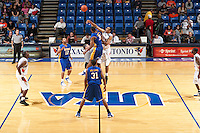 SAN ANTONIO, TX - FEBRUARY 9, 2006: The McNeese State University Cowboys vs. The University of Texas at San Antonio Roadrunners Men's Basketball at the UTSA Convocation Center. (Photo by Jeff Huehn)