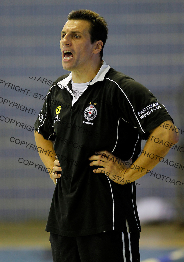 Vladimir Vujasinovic, Waterpolo, Champions league, preliminary round group D PArtizan - Galatasaray, Vaterpolo, Galatasaraj, .Belgrade, Serbia, September 26, 2012. (credit & photo: Pedja Milosavljevic / +381 64 1260 959 / thepedja@gmail.com)