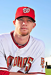 28 February 2010: Washington Nationals relief pitcher Logan Kensing poses for his Spring Training photo at Space Coast Stadium in Viera, Florida. Mandatory Credit: Ed Wolfstein Photo