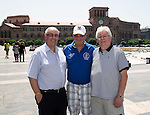 St Johnstone UEFA Cup Qualifyer, Armenia...01.07.15<br /> Saints fans from left, Brian Smith, Jimmy Smith and Jimmy Robertson pictured in the Armenia capital Yerevan ahead of tomorrow nights game against Alashkert FC.<br /> Picture by Graeme Hart.<br /> Copyright Perthshire Picture Agency<br /> Tel: 01738 623350  Mobile: 07990 594431
