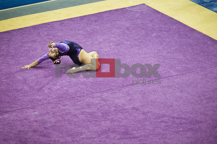 Aliza Vaccher..----Washington Huskies gymnastics tri-meet vs Louisiana State University and Seattle Pacific University at Alaska Airlines Arena at Hec Edmundson Pavilion in Seattle on Friday, February 17, 2012. (Photo by Dan DeLong/Red Box Pictures)