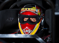Aug 31, 2014; Clermont, IN, USA; NHRA funny car driver Tim Wilkerson during qualifying for the US Nationals at Lucas Oil Raceway. Mandatory Credit: Mark J. Rebilas-USA TODAY Sports