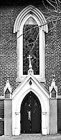 Episcopal church side entrance in Memphis, TN.