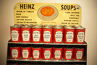 A Heinz soup cafeteria counter display in the Lunch Hour NYC show at the New York Public Library in the Schwarzman Building in Midtown Manhattan on Tuesday, June 26, 2012. The expansive exhibit shows aspects of lunch as performed by New Yorkers over the years. The show visits the history of the mid-day meal as is was taken by New Yorkers covering  everything from homemade meals to quick lunch joints to hot dog carts and everything in between.(© Richard B. Levine)
