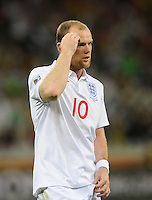 Wayne Rooney of England is frustrated