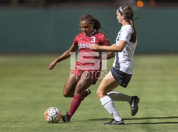 STANFORD, CA - The Stanford Cardinal women's soccer team vs the Penn State Nittany Lions in a match at Cagan Stadium in Standford, CA. Final score, Stanford Cardinal 0, Penn State Nittany Lions 2.