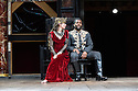"Shakespeare's Globe presents ""Macbeth"", by William Shakespeare, directed by Iqbal Khan.  Picture shows: Tara Fitzgerald (Lady Macbeth), Ray Fearon (Macbeth)"