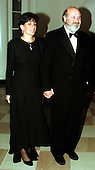 Rob Reiner and his wife, Michele Singer, arrive at The White House in Washington, D.C. for a dinner in honor of the National Medal of Arts recipients on January 9, 1997..Credit: Ron Sachs / CNP